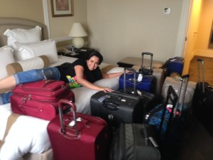 Me and my luggage waiting to come home...jk...did you really think i travel with that much luggage?