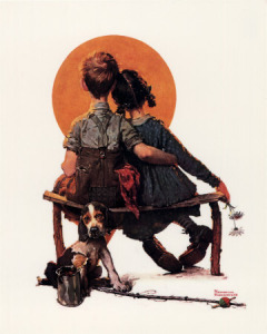 009_575-011~Norman-Rockwell-First-Love-Posters