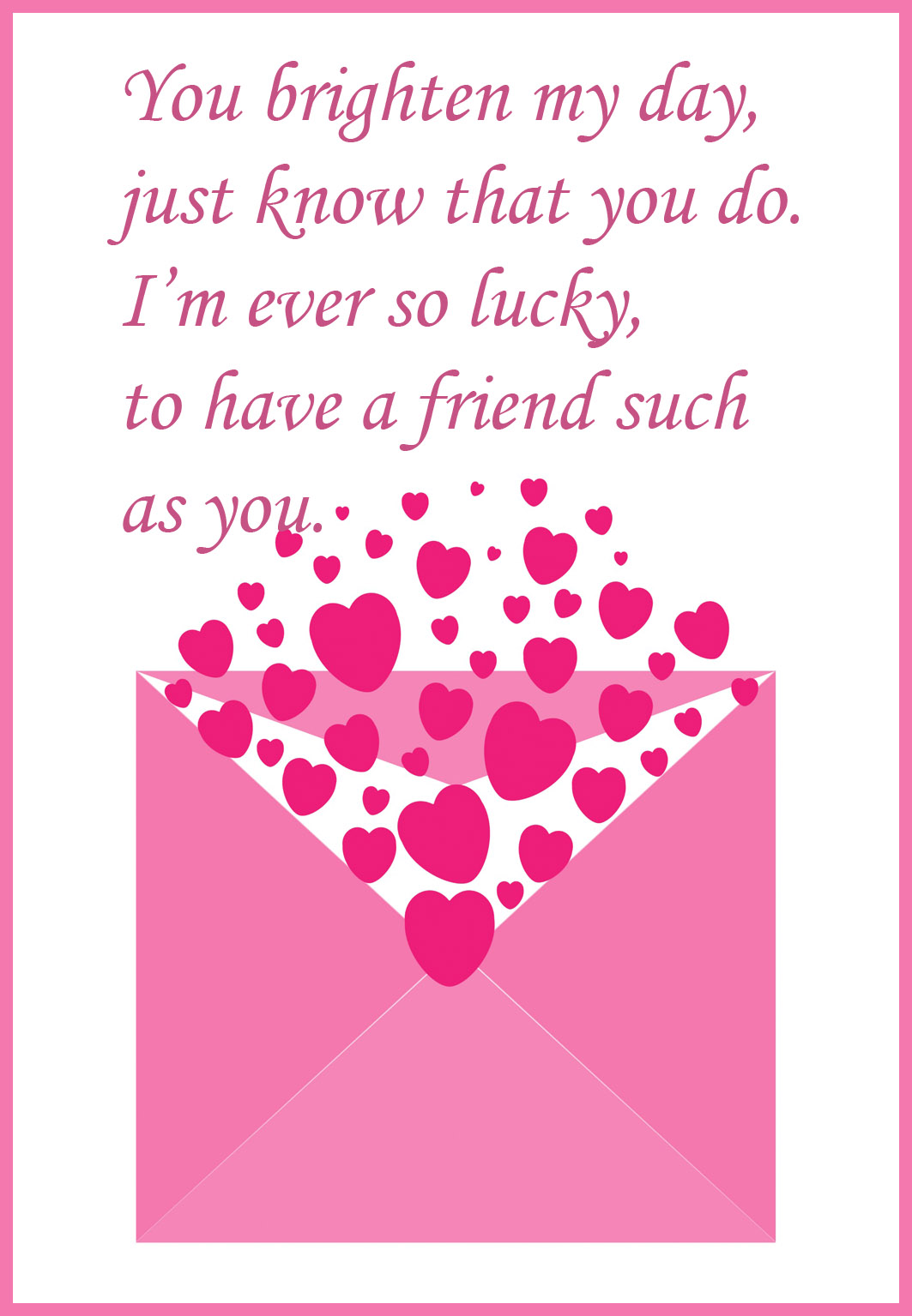 friendshipvalentinesdaycards – Free Printable Valentine Cards for Husband
